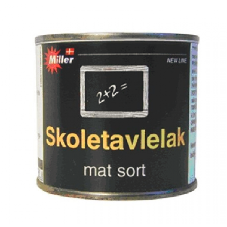 Skoletavlelak sort 375 ml.